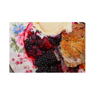 Blackberry Cobbler with Sweet, Tender Biscuits