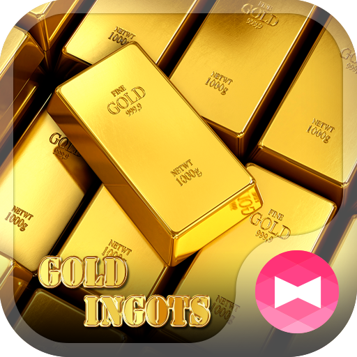 테마・아이콘 Gold Ingots+HOME 個人化 App LOGO-硬是要APP