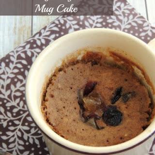 Cranberry Gingerbread Mug Cake
