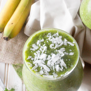 Energizing Tropical Green Tea Smoothie