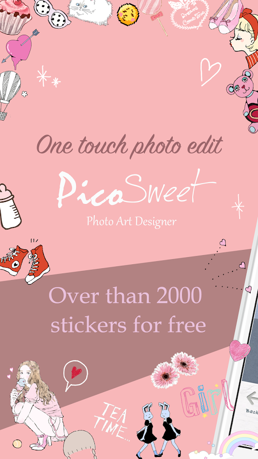 PicoSweet: Kawaii deco with a few taps.PhotoEditor- screenshot
