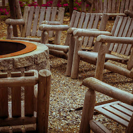 Around the fire ring by Jeff McVoy - Artistic Objects Furniture ( ring, fire, wood, campfire, chars )