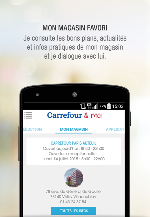 carrefour applications android sur google play. Black Bedroom Furniture Sets. Home Design Ideas