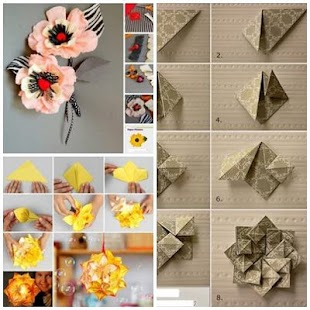 DIY Paper Flower Craft Screenshot Thumbnail
