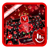 Live 3D Blooming Red Rose Keyboard Theme