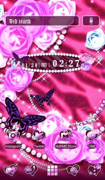 Pink Wallpaper Glamorous Rose Android App Screenshot