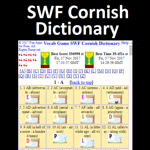 Vocab Game SWF Cornish Dictionary (game)