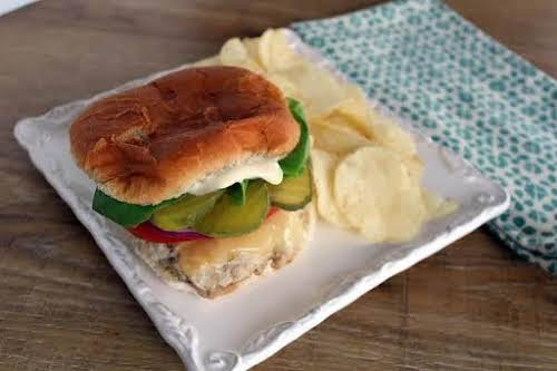 """Turkey Burgers with Rosemary """"Aioli"""" """"These are awesome! My family really likes..."""