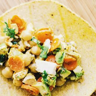 Chickpea & Avocado Salad with a Spiced Orange Vinaigrette Dressing (Gluten Free, Vegan Option)