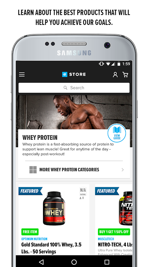 Bodybuilding.com Store- screenshot
