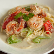 Thai Green Curry Shrimp Spaghetti