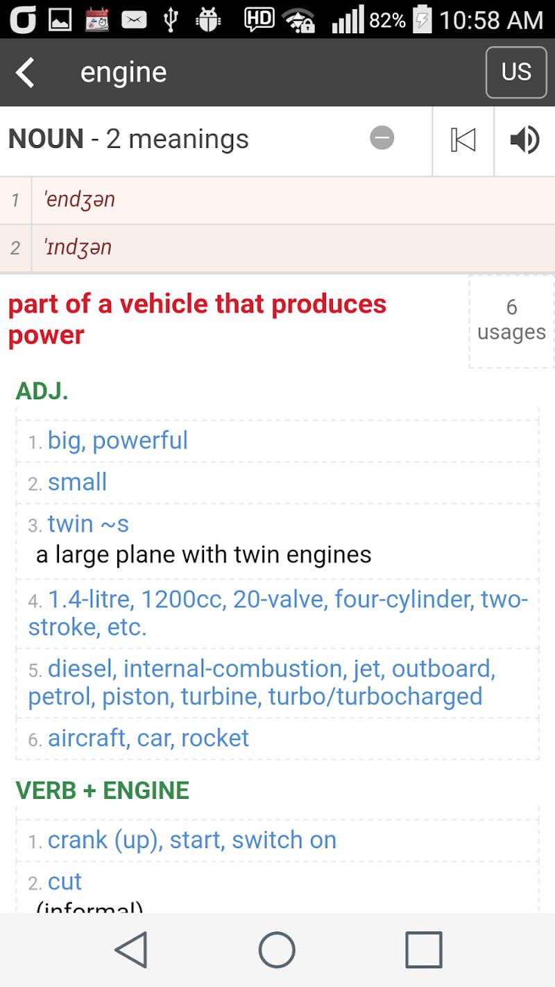 Collocation Dictionary Pro Screenshot 5