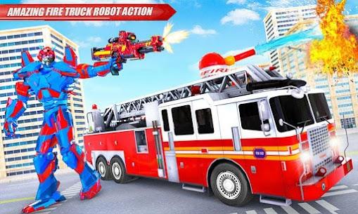 Fire Truck Real Robot Transformation: Robot Wars 3