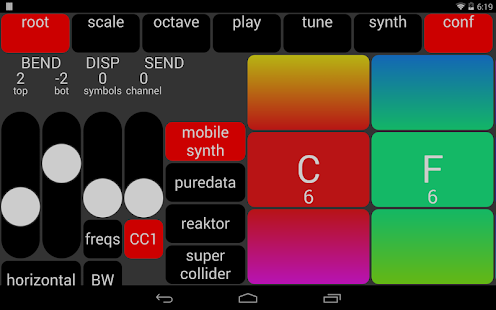 MISUCO2 microtonal sound controller + mobile synth- screenshot thumbnail