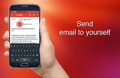 Contact Backup Screenshot
