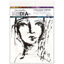 Dina Wakley Media Tissue Pack 7.5X10 20/Pkg - Faces