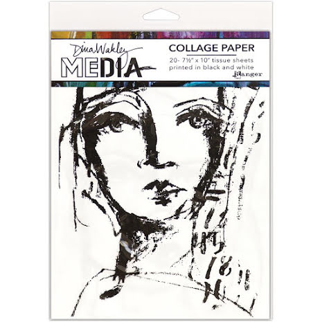 Dina Wakley Media Tissue Pack 7.5X10 20/Pkg - Faces
