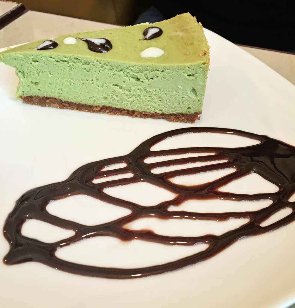 Vaneaty Resto Cafe Green Tea Cheesecake