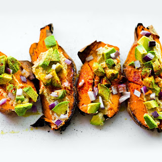 Favorite Loaded Baked Sweet Potatoes.