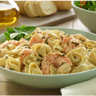 Poached Shrimp And Tortellini.