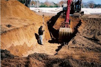 Photo: Digging the basement