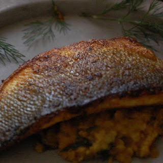 Dill Daal and Crispy Sea Bass