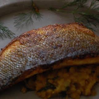 Dill Daal and Crispy Sea Bass.