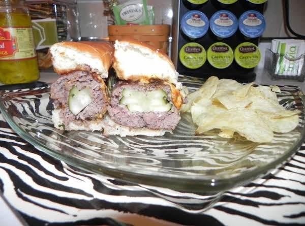 Pickle Stuffed Cheeseburgers