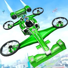 Flying Formula Car Games 2020: Drone Shooting Game Download on Windows