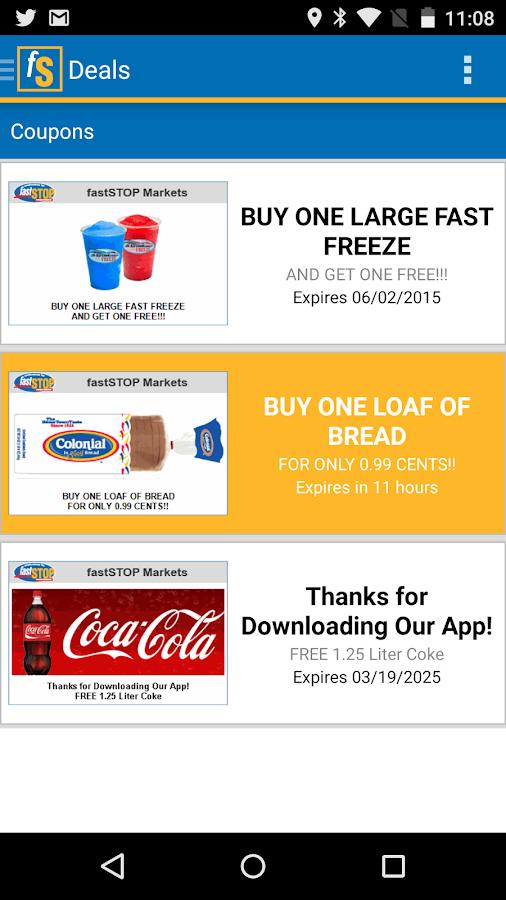 Fast Stop Markets App- screenshot