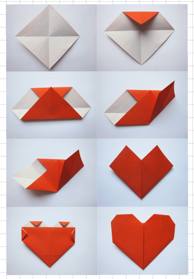 Origami Love Heart Note
