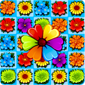 Flower Blossom Jam - Fun Match 3 & Free Match Game