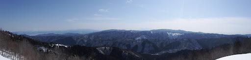 傘山の鉄塔からパノラマ