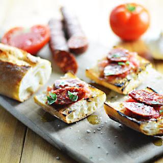 Spanish Tomato Bread With Chorizo.