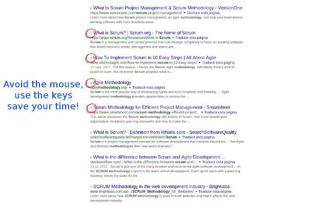 Mouseless Googling