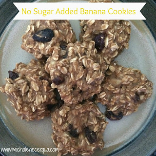 No Sugar Added Banana Cookies