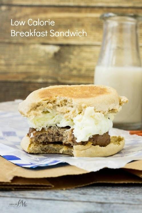 Low Calorie Breakfast Sandwich