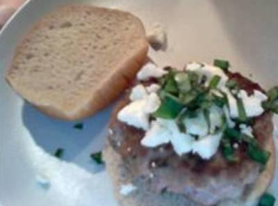 spinach, feta and turkey burgers