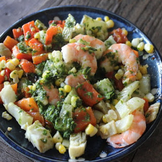 Make-Ahead Chimichurri Shrimp and Corn Salad.