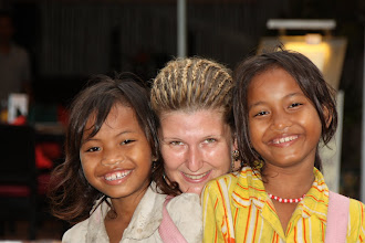 Photo: Year 2 Day 42 -  Rachael and a Couple of the Street Kids