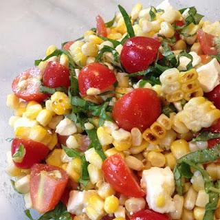 Grilled Corn, Basil & Tomato Salad