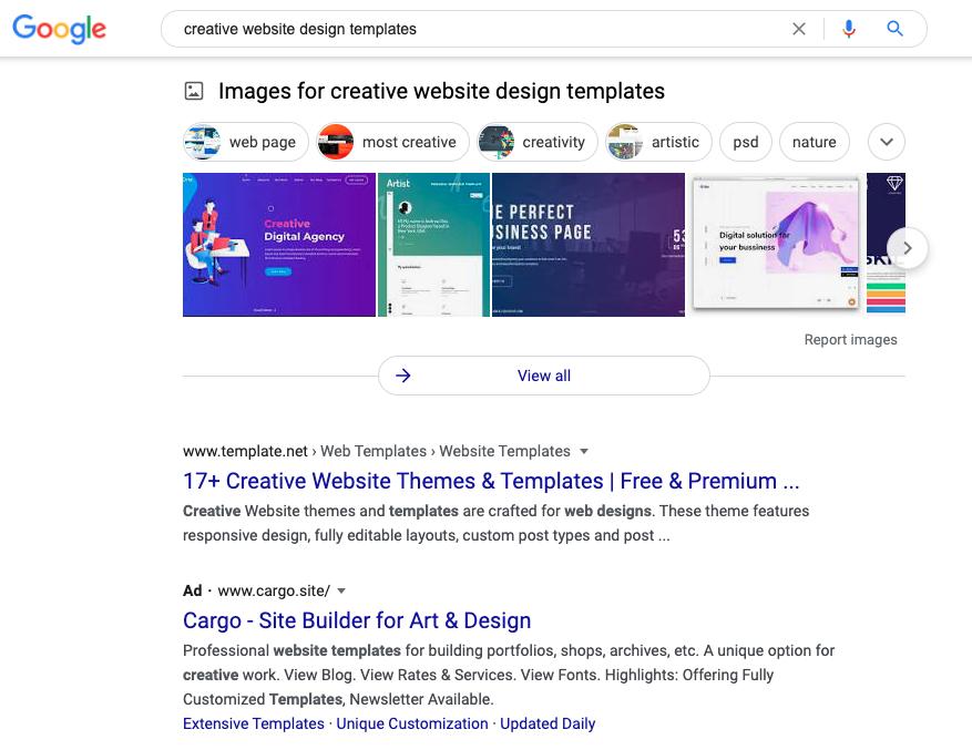 kết quả tìm kiếm hình ảnh của google