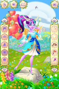 Oblékací hry Květinová víla - náhled