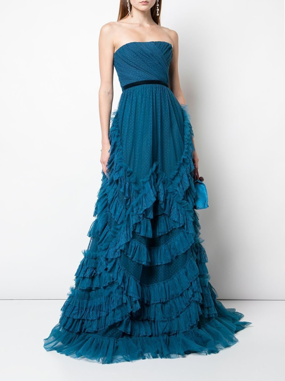 marchesa ruffled