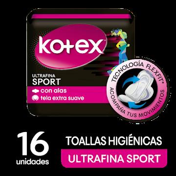 Toallas Íntimas Kotex   Sport Mega Pack x16und