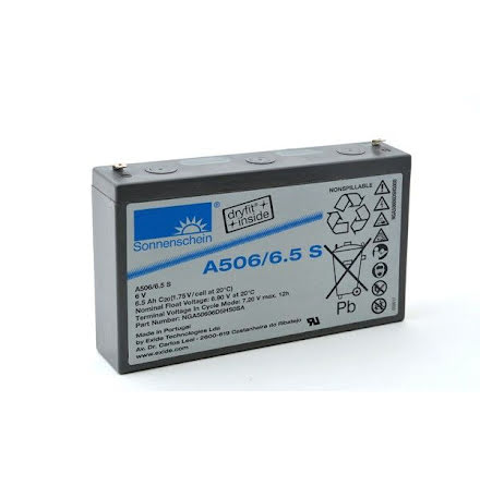 Gelbatteri 6V 6,5Ah SonnenscheinLxBxH:152x34,5x98,