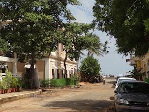 Photo: ambiance de rue vue sur mer Pondy