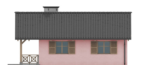 G196 - Budynek rekreacyjny z sauną - Elewacja prawa