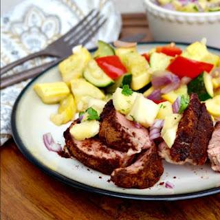 Cocoa Spiced Pork Tenderloin with Pineapple Salsa