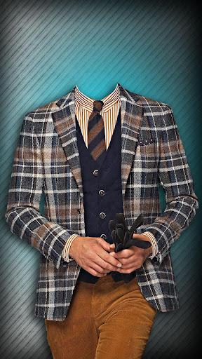男人的时尚西装的照片蒙太奇